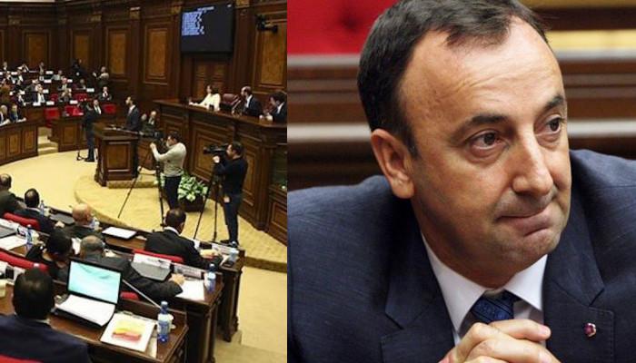 Парламент Армении одобрил проект с требованием прекратить полномочия главы КС