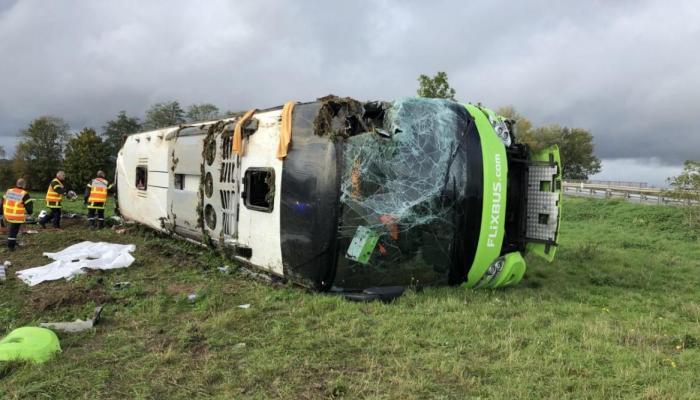 Ֆրանսիայում կողաշրջվել է Փարիզ-Լոնդոն ավտոբուսը