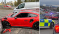 Would-be owner crashes £200,000 Porsche on test drive