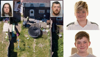 Revealed: Neighbours suspected 'incest murder' half-siblings who killed two of their children were a couple 'when the kids started calling him DAD'