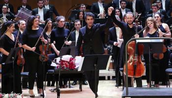 Սիմֆոնիկ նվագախումբը հանդես է եկել կոմպոզիտոր Ալֆրեդ Շնիտկեի 85-ամյակին նվիրված երեկոյով
