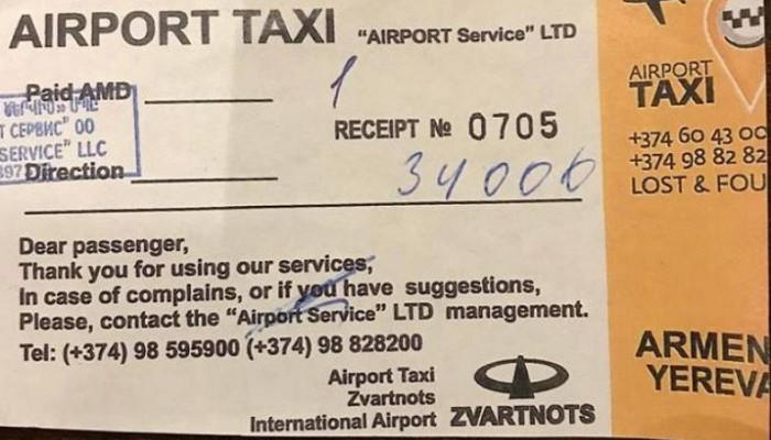 Գերմանացի ուղևորից 34,000 դրամ պահանջած տաքսու վարորդը հայտնաբերվել է
