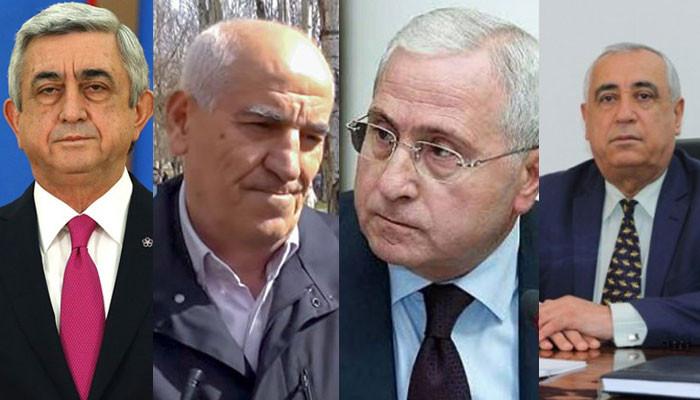 По делу Сержа Саргсяна обвинения предъявлены также Серго Карапетяну и Самвелу Галстяну