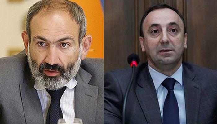 Никол Пашинян: Грайр Товмасян не может быть председателем КС