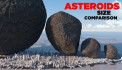 These are the sizes of some asteroids compared to New York City