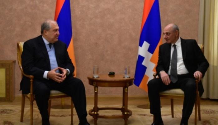 Արմեն Սարգսյանն Արցախում հանդիպել է Բակո Սահակյանին