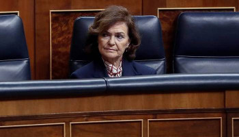 Spain's deputy PM Carmen Calvo hospitalized with respiratory infection