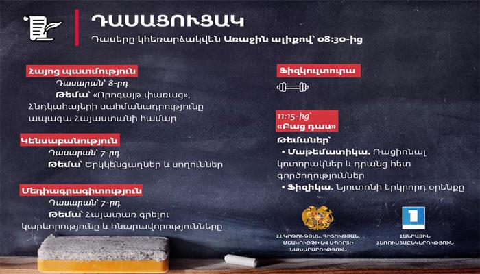 Մարտի 31-ի դասացուցակը