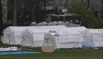 New York field hospital under construction in Central Park amid coronavirus outbreak