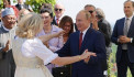 Dancing with Putin at the wedding of former Austrian foreign Minister accused her husband of violence