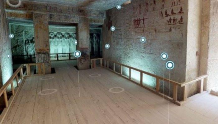 Виртуальный тур предлагает путешествие внутри египетской гробницы