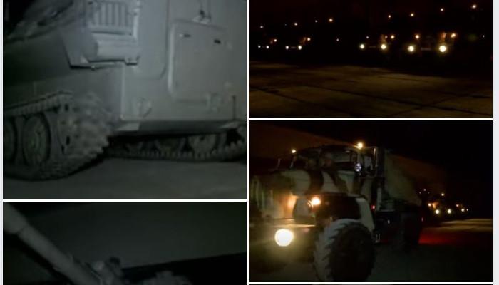 Ադրբեջանում զինտեխնիկայի գիշերային տեղաշարժը շարունակվել է մինչև լուսաբաց