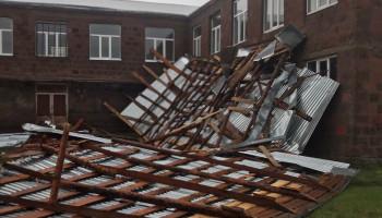 Ուժգին քամու հետևանքները՝ Շիրակի մարզի Անի համայնքում