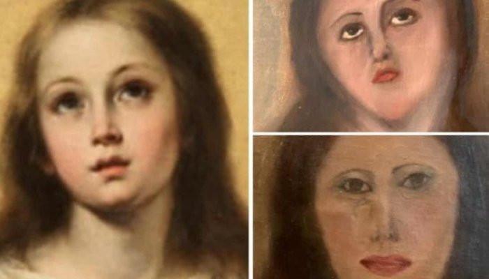 Ապաշնորհ վերականգնմանպատճառով Աստվածամոր նկարը վերածվել է ծաղրանկարի