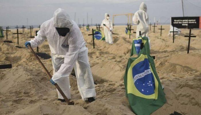 В Бразилии за сутки почти 41 тыс. человек заразились #COVID_19