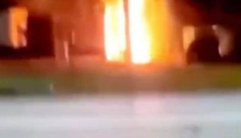Armenian cafe in Kiev, Ukraine in set on fire by azerbaijanis․ #ZartonkMedia