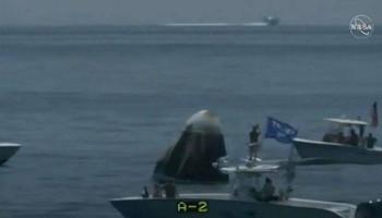 #CrewDragon տիեզերանավի անձնակազմը վերադարձել է Երկիր