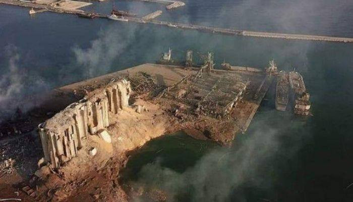 Место взрыва в Бейруте показали с высоты птичьего полета