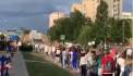 Длинная колонна солидарности в Беларуси