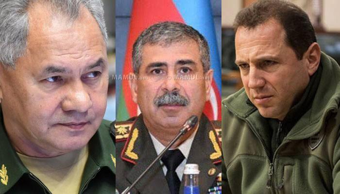 Шойгу провел переговоры с министрами обороны Армении и Азербайджана