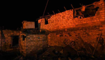 Ստեփանակերտում ամբողջությամբ ավերվել է մեկ առանձնատուն. հայտարարվել է օդային տագնապ