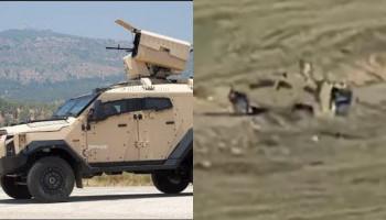 На видео видно уничтожение бронетехники Sandcat израильского производства