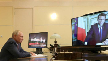 Путин и Макрон обсудили ситуацию в Нагорном Карабахе