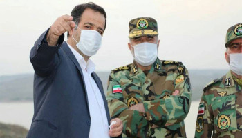 The commander of ground forces of Iran visited Khudaferin dam