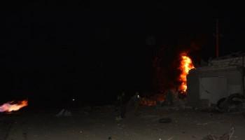 Այրվել է մեքենա, վնասվել են շենք-շինություններ, գազատար. Ստեփանակերտի վերջին հրթիռակոծության հետևանքները