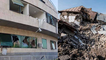 Azerbaijan Struck Maternity Hospital in Stepanakert and Residential and Public Areas