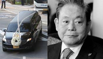 Церемония прощания с умершим главой #Samsung прошла в Сеуле