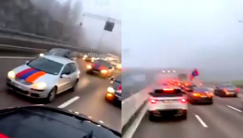 Հայերի՝ 400 մեքենայից բաղկացած շարասյունը Սթոքհոլմում մեծ խցանումներ է առաջացրել