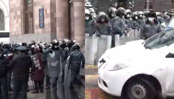 Ermenistan'da Paşinyan karşıtları Başbakanlık binasını kuşattı