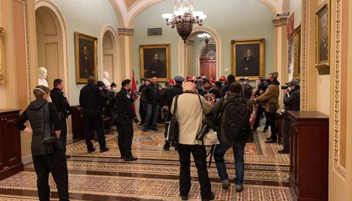 Senate evacuated, VP Pence ushered to secure location after pro-Trump protesters storm Capitol