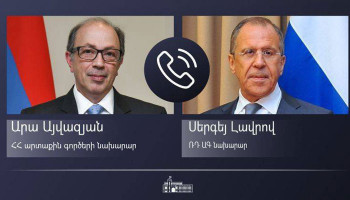 Ara Aivazian held a phone conversation with the Foreign Minister Sergey Lavrov