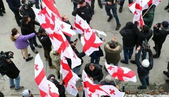 В Грузии начались протесты после задержания главы партии Саакашвили