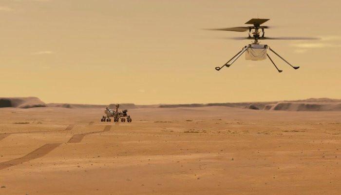 NASA провело первый полет вертолета на Марсе