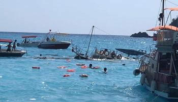 Fethiye'de tur teknesi battı: 1 ölü, 2 yaralı