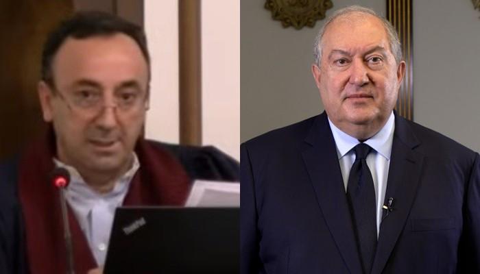 Конституционный суд отклонил второе ходатайство судьи Грайра Товмасяна