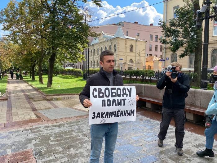 В Москве проходит акция за свободу средств массовой информации