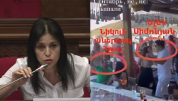 Aregnaz Manoukyan to Alen Simonyan: ''There is information claiming that your costs were covered by the head of one of the bookmaker's offices''
